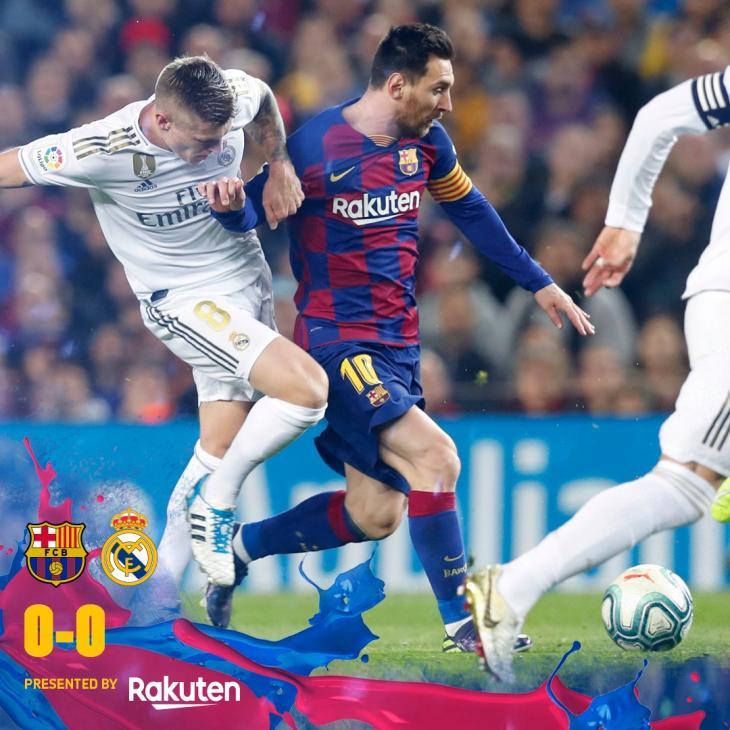 돌파를 시도하는 메시와 그것을 수비하는 토니 크로스 / FC 바르셀로나 공식 트위터