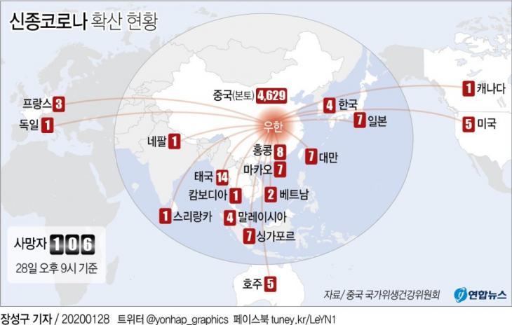 신종코로나 확산 현황 / 연합뉴스