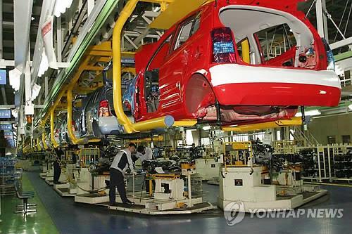 서산의 한 자동차 공장 생산라인 [서산시 제공]
