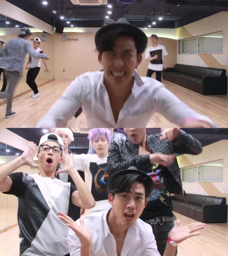 2PM 유튜브-인기가요 유튜브 캡처