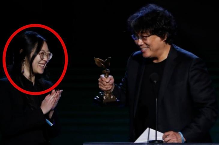 샤론 최(최성재)-봉준호 감독 / 연합뉴스