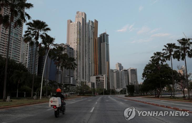 3월 31일(현지시간) 파나마시티의 한산한 거리 [로이터=연합뉴스]