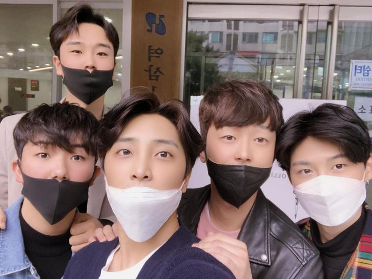 송민준-남승민-황윤성-이찬원-조영서 / 남승민 인스타그램