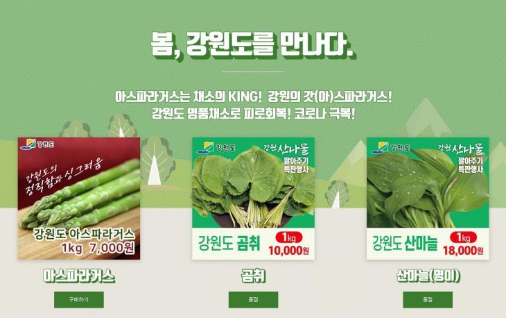 강원진품센터 홈페이지