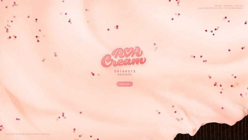 AOA CREAM 티저 사이트 / FNC 엔터테이먼트
