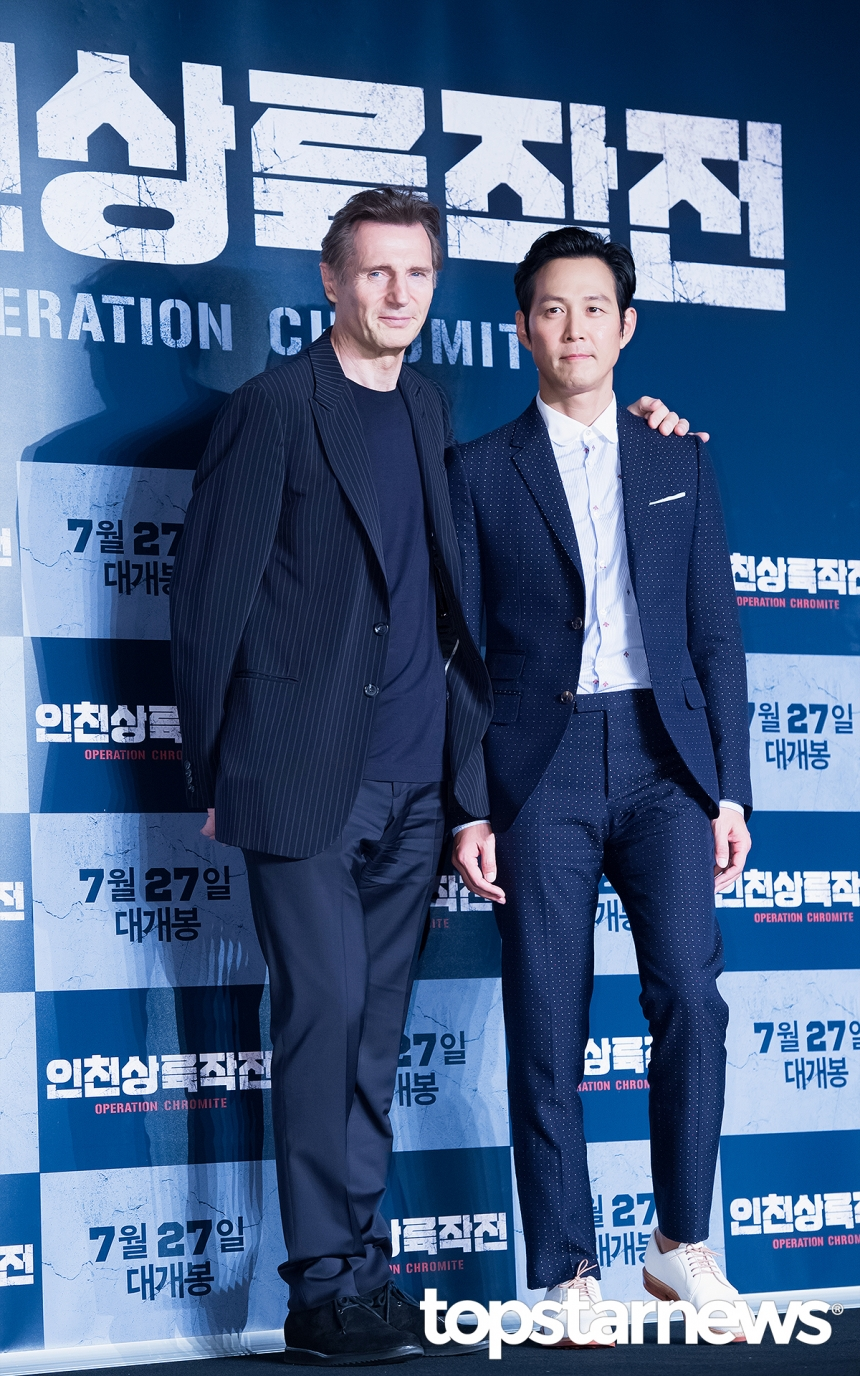 리암 니슨 (Liam Neeson-이정재 / 서울, 톱스타뉴스 김혜진 기자
