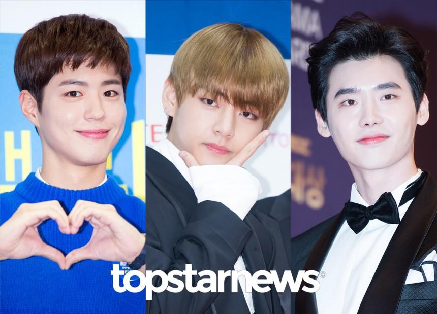 박보검-방탄소년단(BTS) 뷔-이종석 / 톱스타뉴스포토뱅크