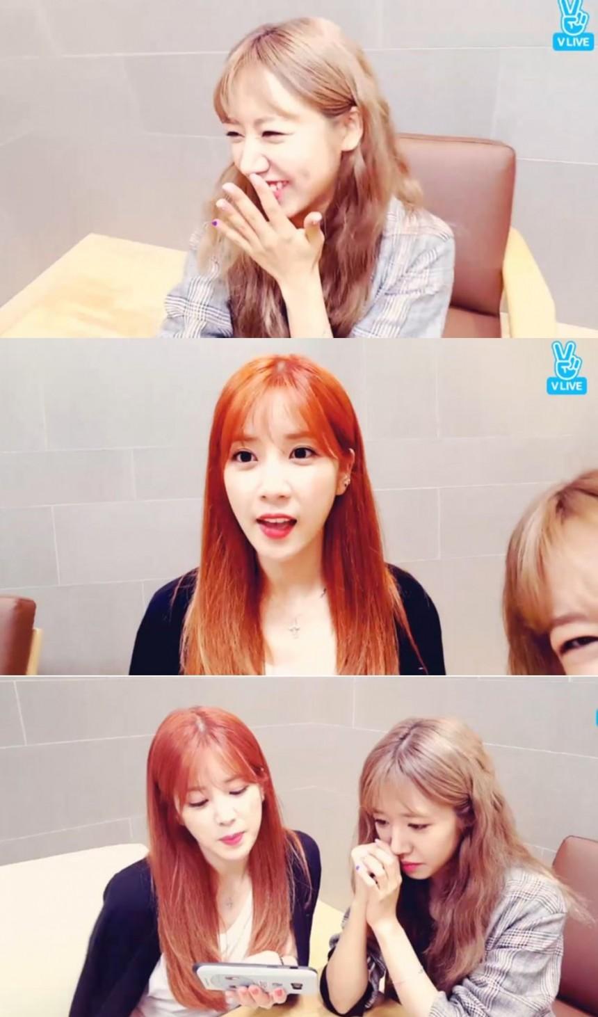 에이핑크(Apink) 박초롱-김남주/V앱 라이브